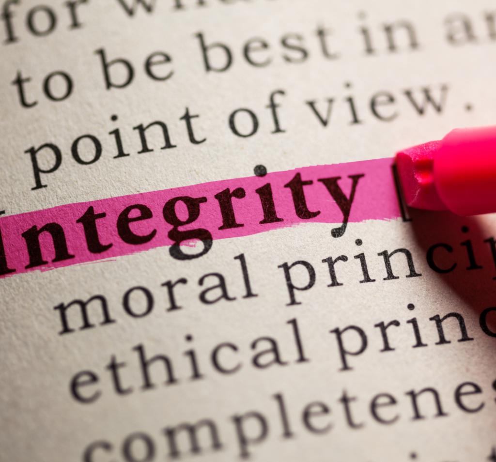 Valeur intégrité